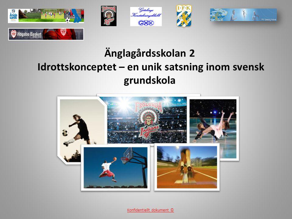 Änglagårdsskolan 2 Idrottskonceptet – en unik satsning inom svensk grundskola Konfidentiellt dokument ©