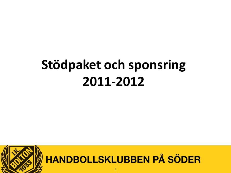 Stödpaket och sponsring 2011-2012 1