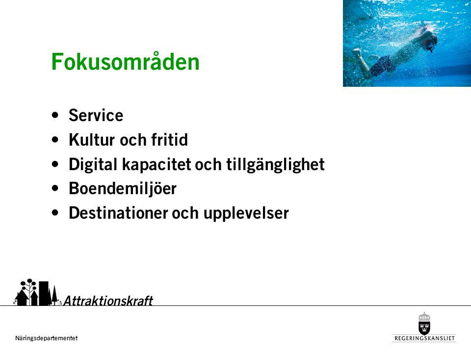 Näringsdepartementet www.regeringen.se/attraktionskraft Attraktionskraft