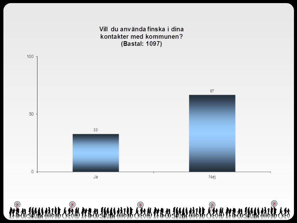 Sammanfattning forts • Fyra av fem (82 procent) vill använda finska i sin kontakt med social- och äldreomsorgen.