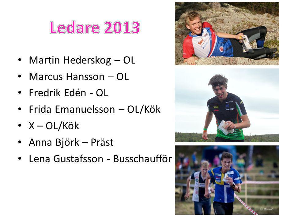 • Martin Hederskog – OL • Marcus Hansson – OL • Fredrik Edén - OL • Frida Emanuelsson – OL/Kök • X – OL/Kök • Anna Björk – Präst • Lena Gustafsson - Busschaufför