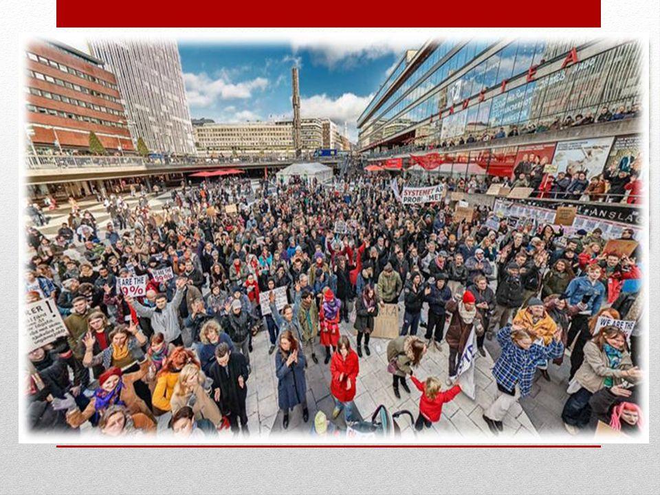 OCCUPY STOCKHOLM Om OCCUPY STOCKHOLM •15e Oktober •Media •Brunkebergstorg •Generalförsamlingar •Principer och Mål •Transparens, Genuin demokrati, Finansiell reform, Hållbar utveckling, Social rättvisa & Avskaffande av fattigdomen •Organisering