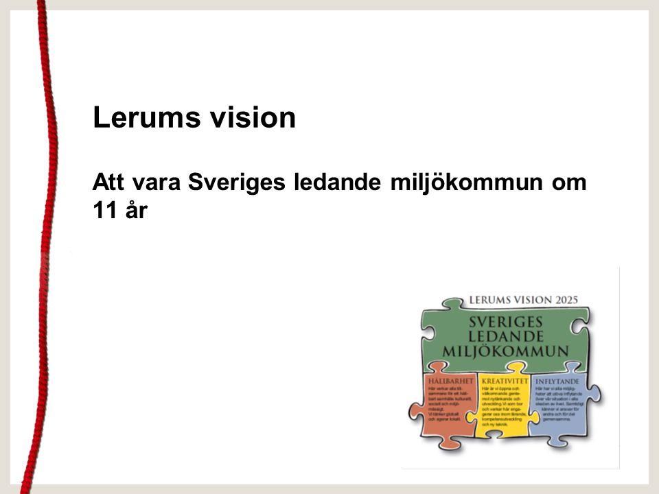 Lerums vision Att vara Sveriges ledande miljökommun om 11 år