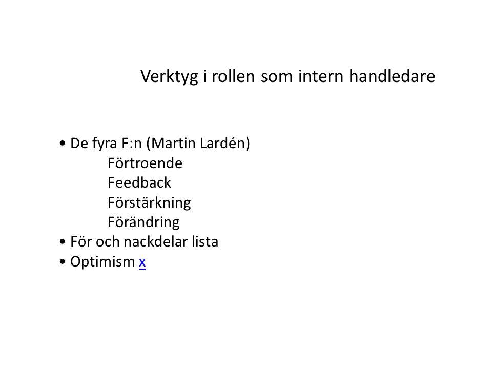 Verktyg i rollen som intern handledare Frågor Varför.