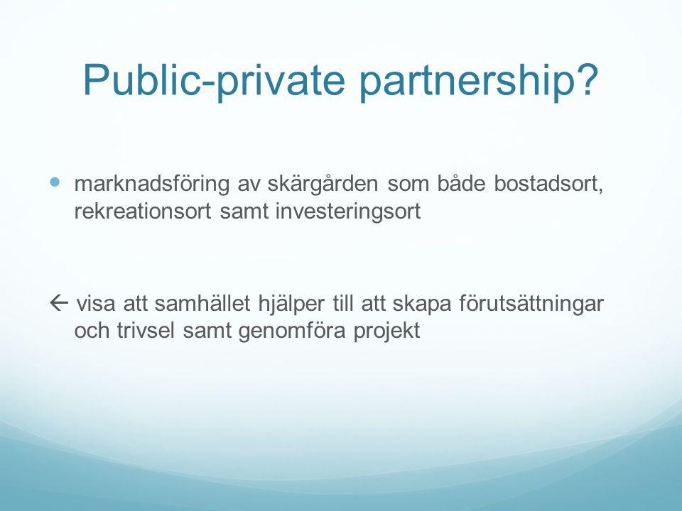 Public-private partnership.