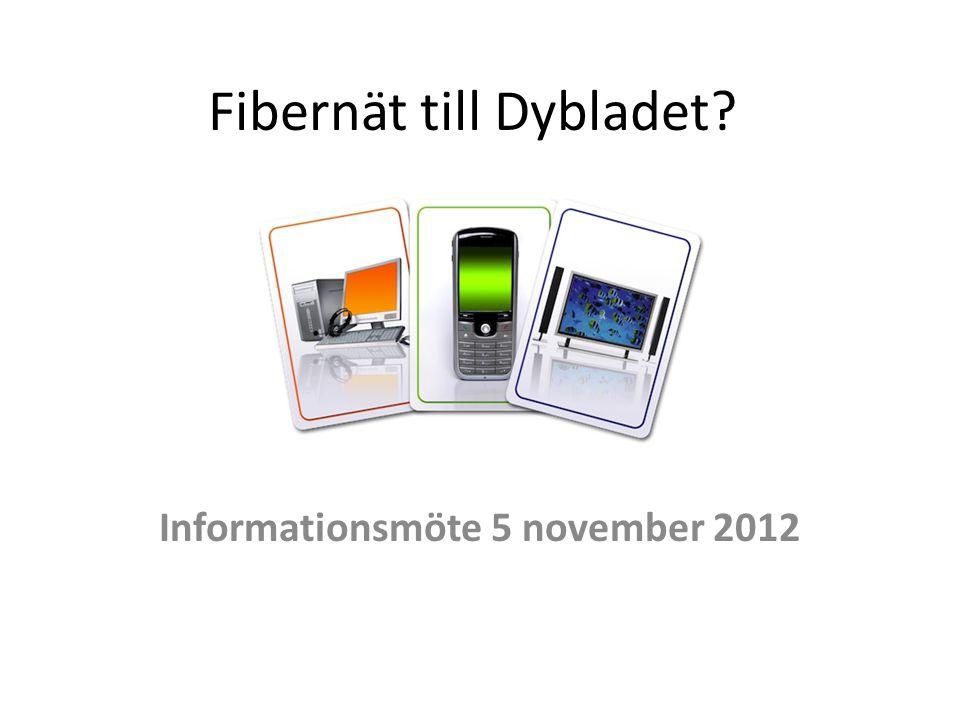 Fibernät till Dybladet? Informationsmöte 5 november 2012