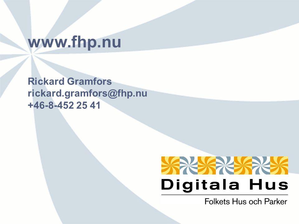 www.fhp.nu Rickard Gramfors rickard.gramfors@fhp.nu +46-8-452 25 41