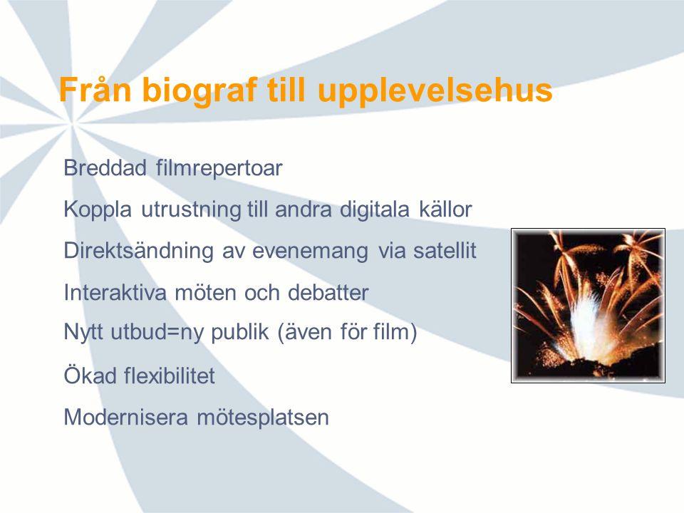 Digitalt live-utbud 2010-2011 Kraftigt utökat utbud av direktsändningar i HD-kvalitet och 5.1 surroundljud via satellit September 2010 – juni 2011: 27 evenemang