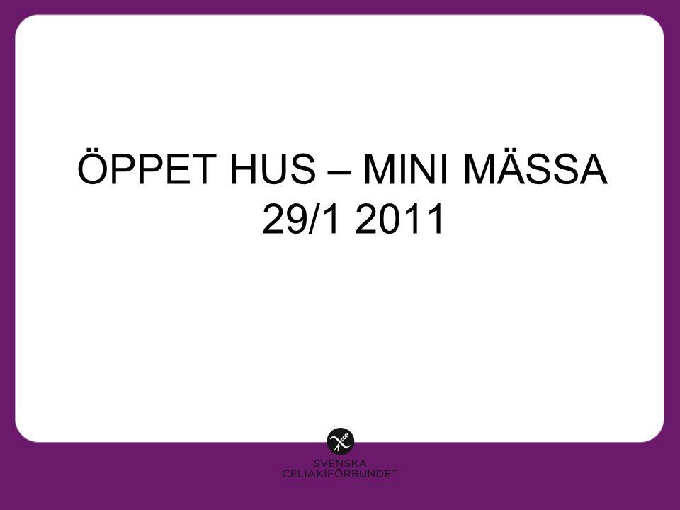 ÖPPET HUS – MINI MÄSSA 29/1 2011
