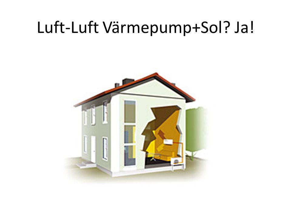 Luft-Luft Värmepump+Sol? Ja!