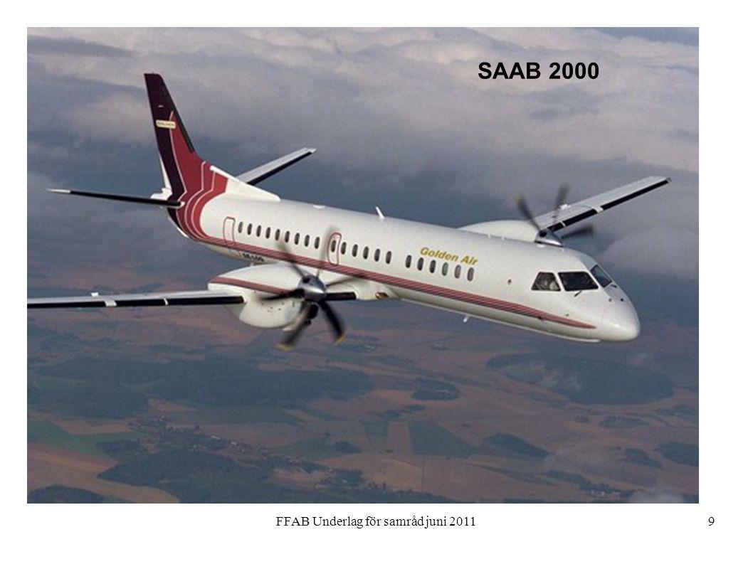 FFAB Underlag för samråd juni 20119 SAAB 2000