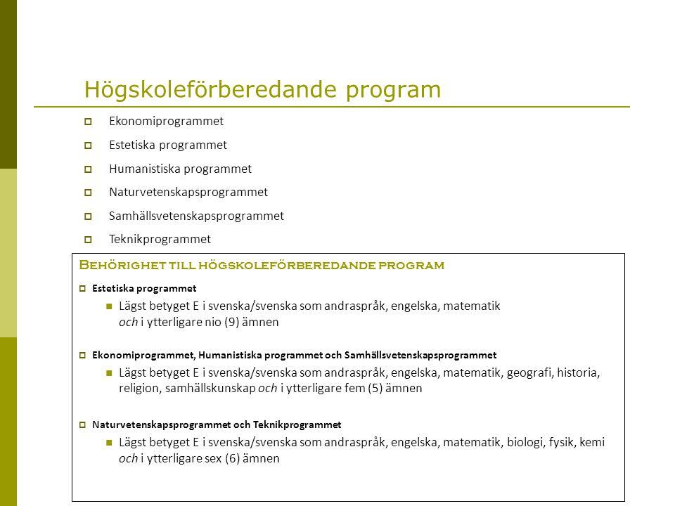 Introduktionsprogram  Preparandutbildning  1 år.