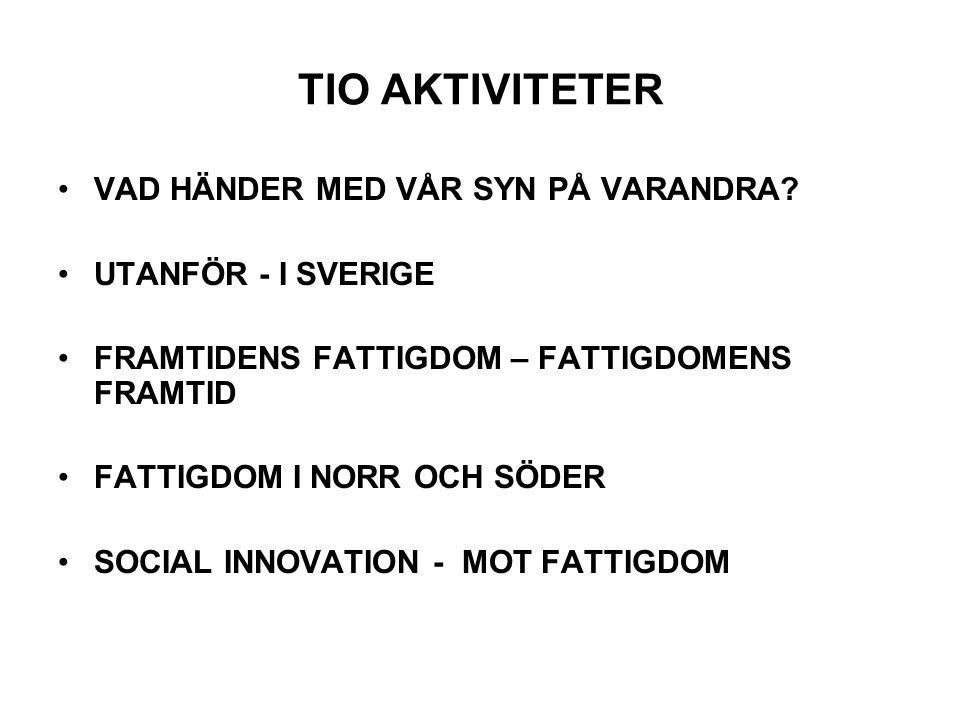 TIO AKTIVITETER •VAD HÄNDER MED VÅR SYN PÅ VARANDRA.