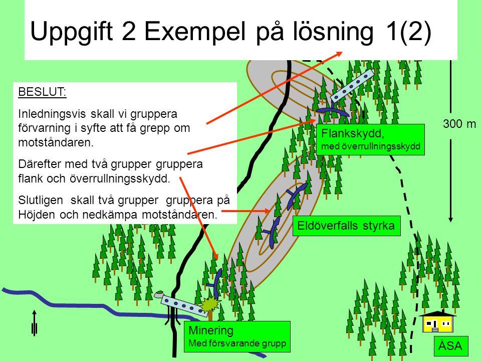 Uppgift 9 500 m Upk 124 Hishult BQ AQ Uppgift 1: • AQ rapport till QJ Redovisa: Enl FORS