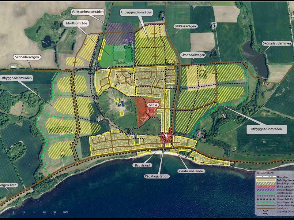 • Byggnationen reduceras.Östra området: De två längst österut belägna områdena tas bort.