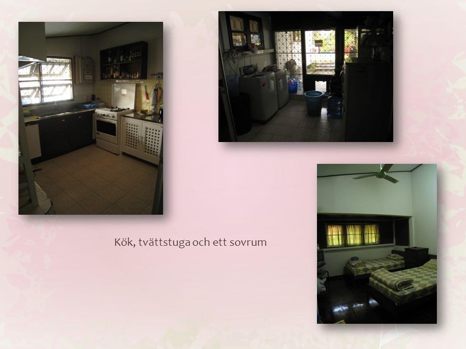 Kök, tvättstuga och ett sovrum
