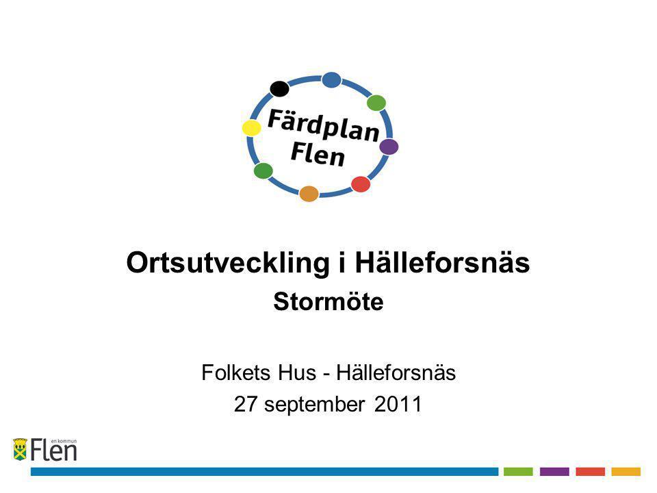 Ortsutveckling i Hälleforsnäs Stormöte Folkets Hus - Hälleforsnäs 27 september 2011