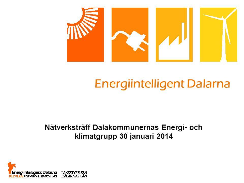 Energiintelligent Dalarna Nätverksträff Dalakommunernas Energi- och klimatgrupp 30 januari 2014