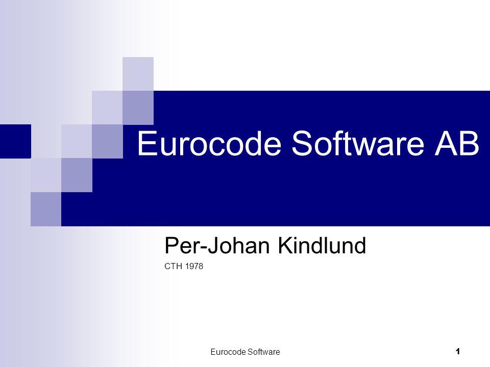 Eurocode Software 1 Eurocode Software AB Per-Johan Kindlund CTH 1978
