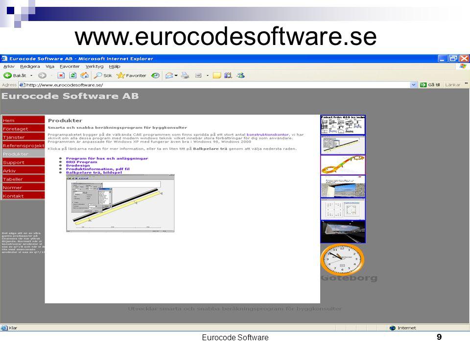 Eurocode Software9 www.eurocodesoftware.se