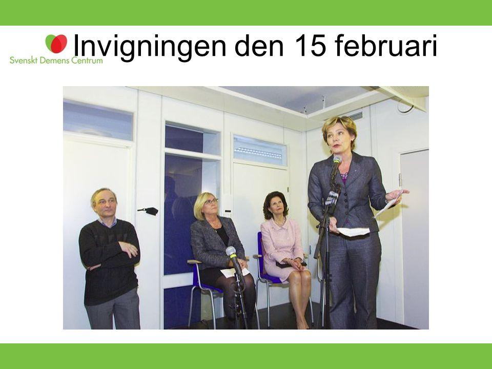 Invigningen den 15 februari