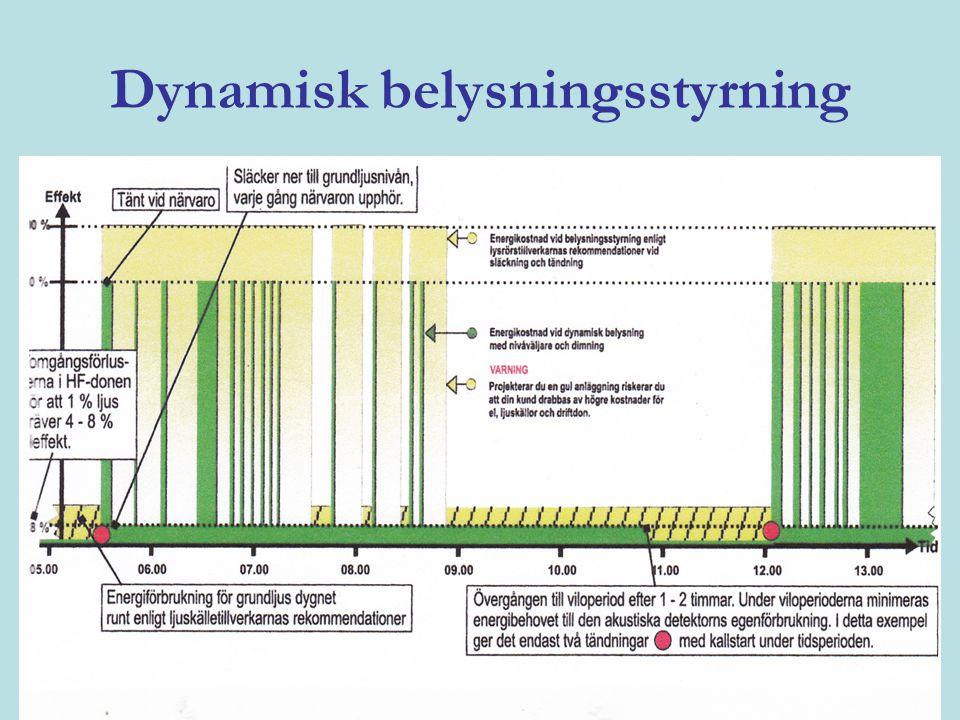 Dynamisk belysningsstyrning