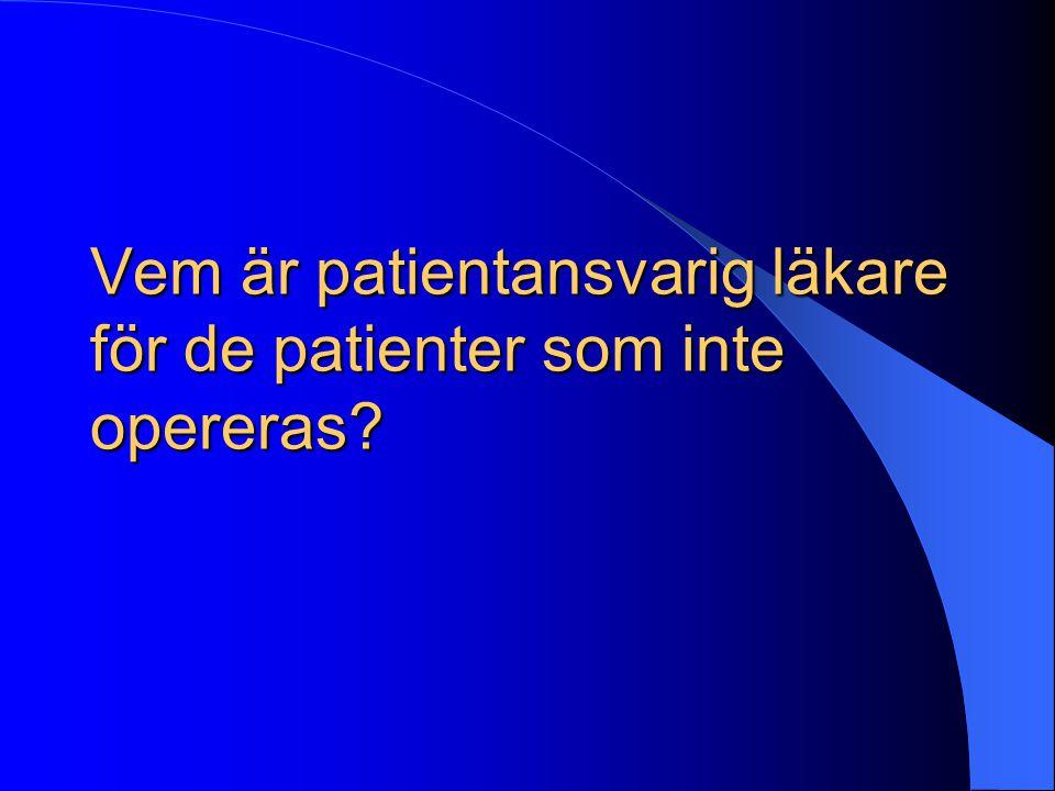 Vem är patientansvarig läkare för de patienter som inte opereras?