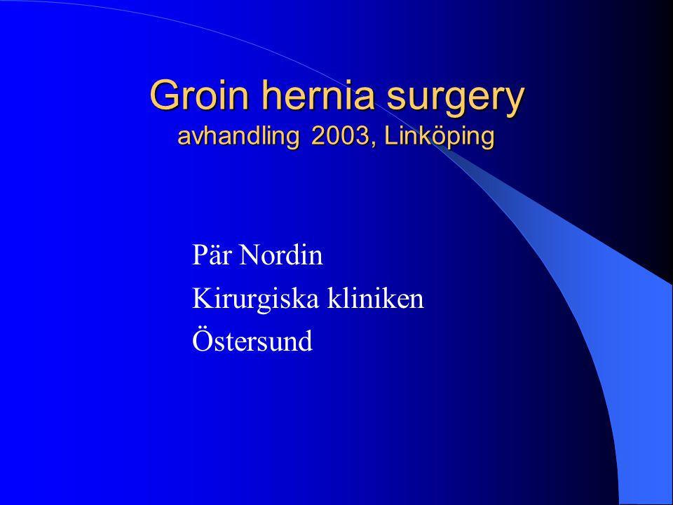 Groin hernia surgery avhandling 2003, Linköping Pär Nordin Kirurgiska kliniken Östersund