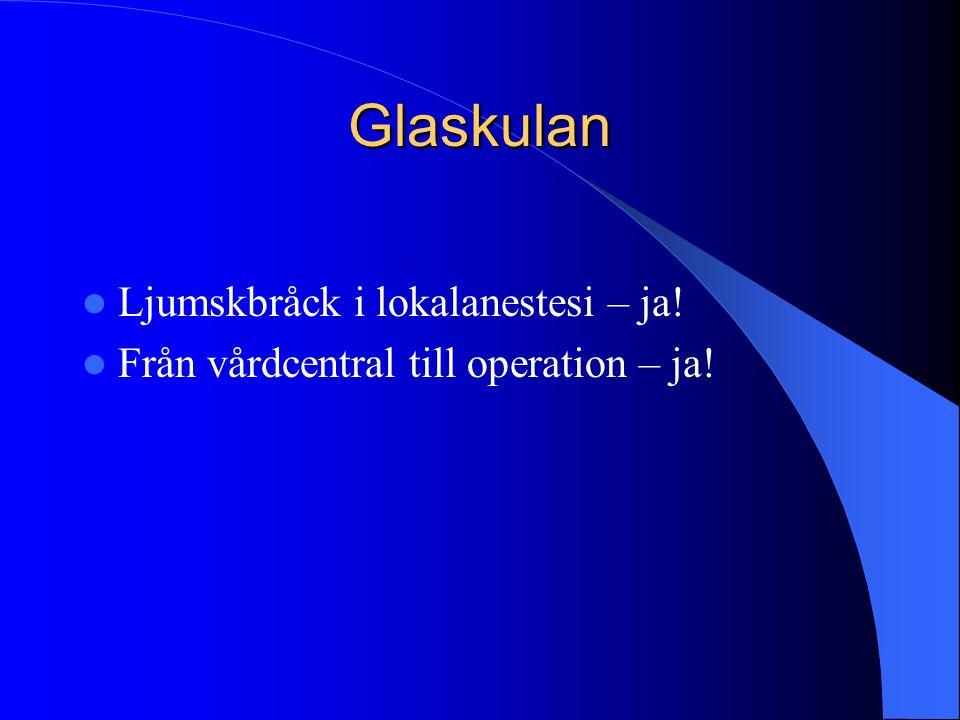Glaskulan  Från vårdcentral till operation – ja!