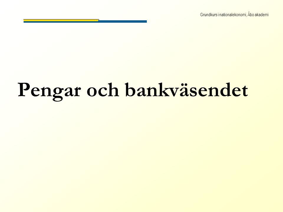 Grundkurs i nationalekonomi, Åbo akademi Pengar och bankväsendet