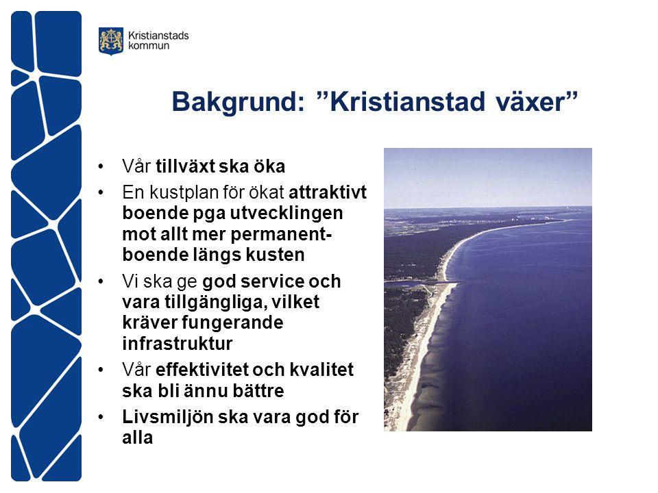Politiskt val •Få en bra utveckling av kuststräckan enligt vad många vill med infrastruktur och kommunal service eller •Låt det vara som det är vilket sätter stopp för all ny-och om-/ tillbyggnad