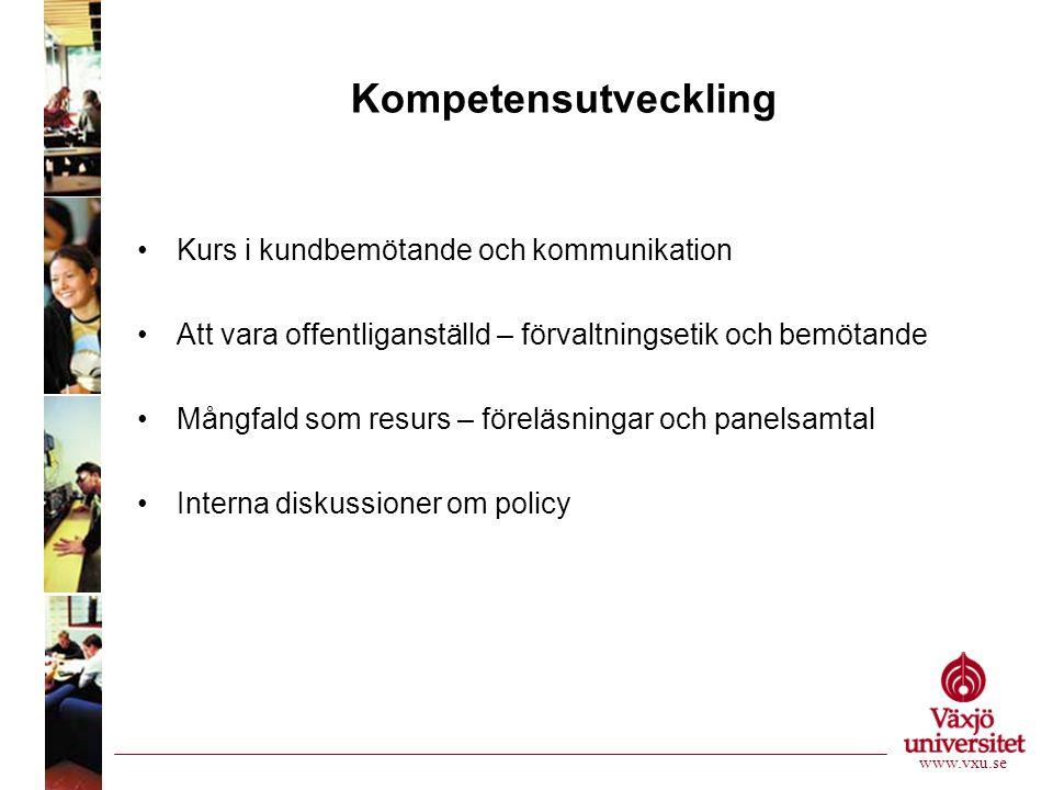 Policy för bemötande www.vxu.se Vänlighet Respekt Kompetens Uppmärksamhet Engagemang Professionalism Hjälpsamhet