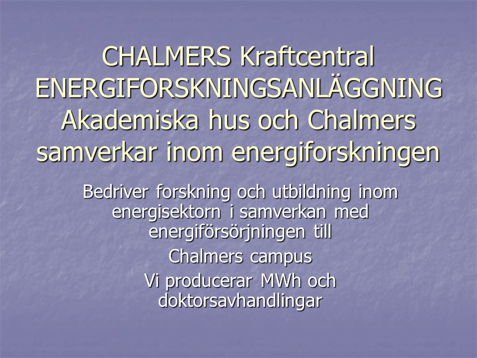 Sustainable Energy Systems: Sustainable Energy Systems: Kandidatarbeten och masterprogram: