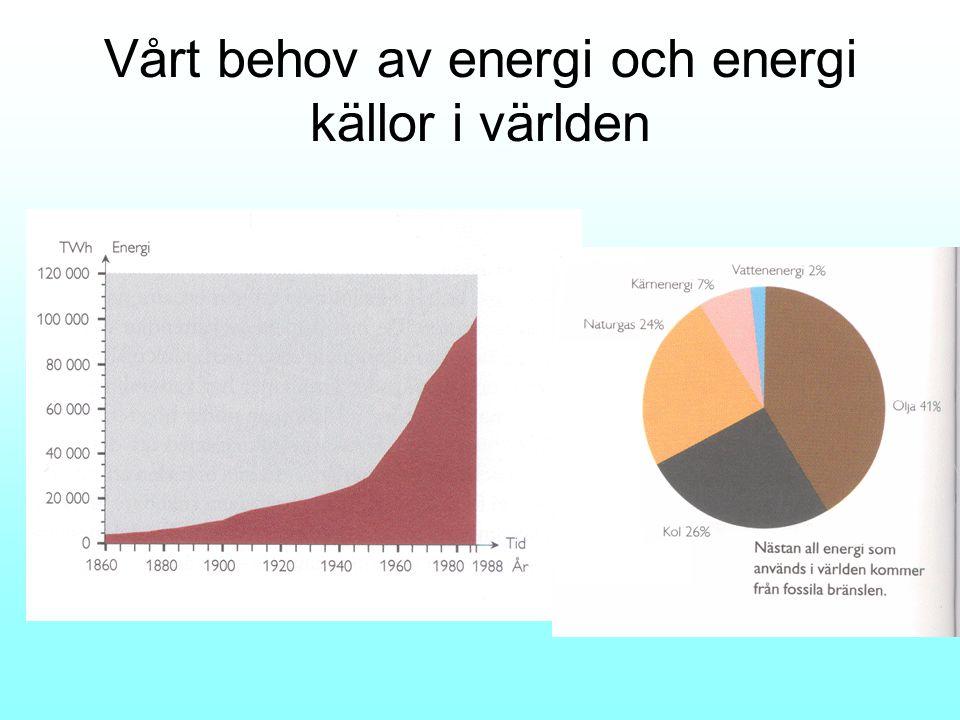 Icke förnybara energikällor •En icke förnybar energikälla är ändlig/tar slut.