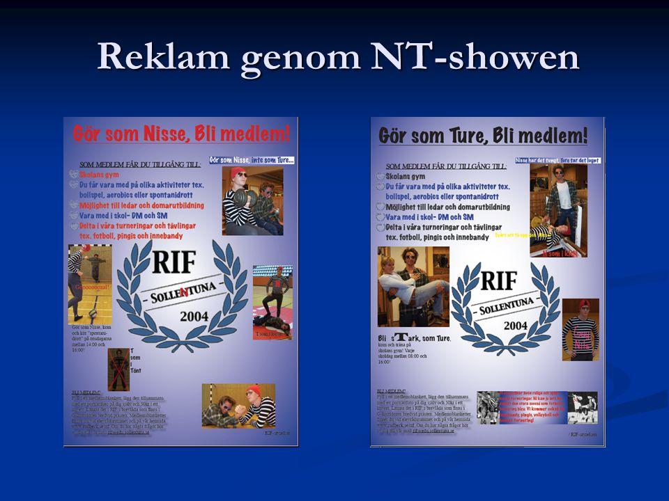 Reklam genom NT-showen