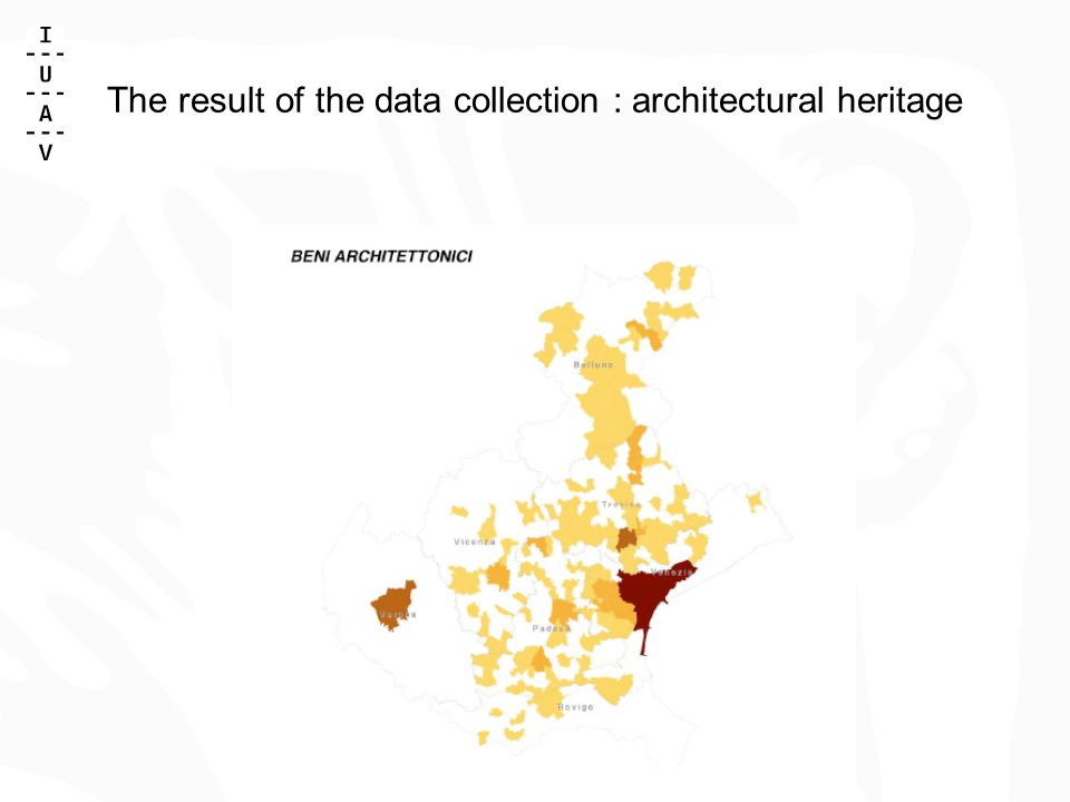 The result of the data collection : architectural heritage