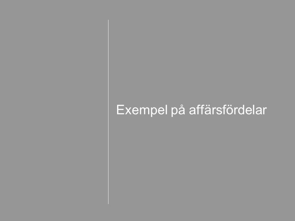 Exempel på affärsfördelar