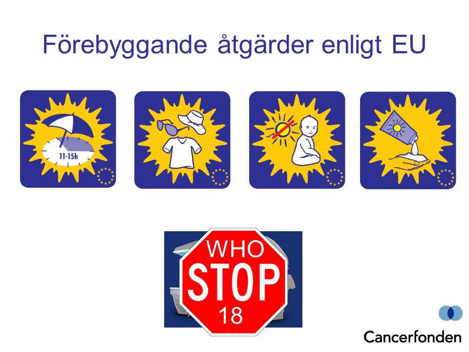 Förebyggande åtgärder enligt EU 18 WHO