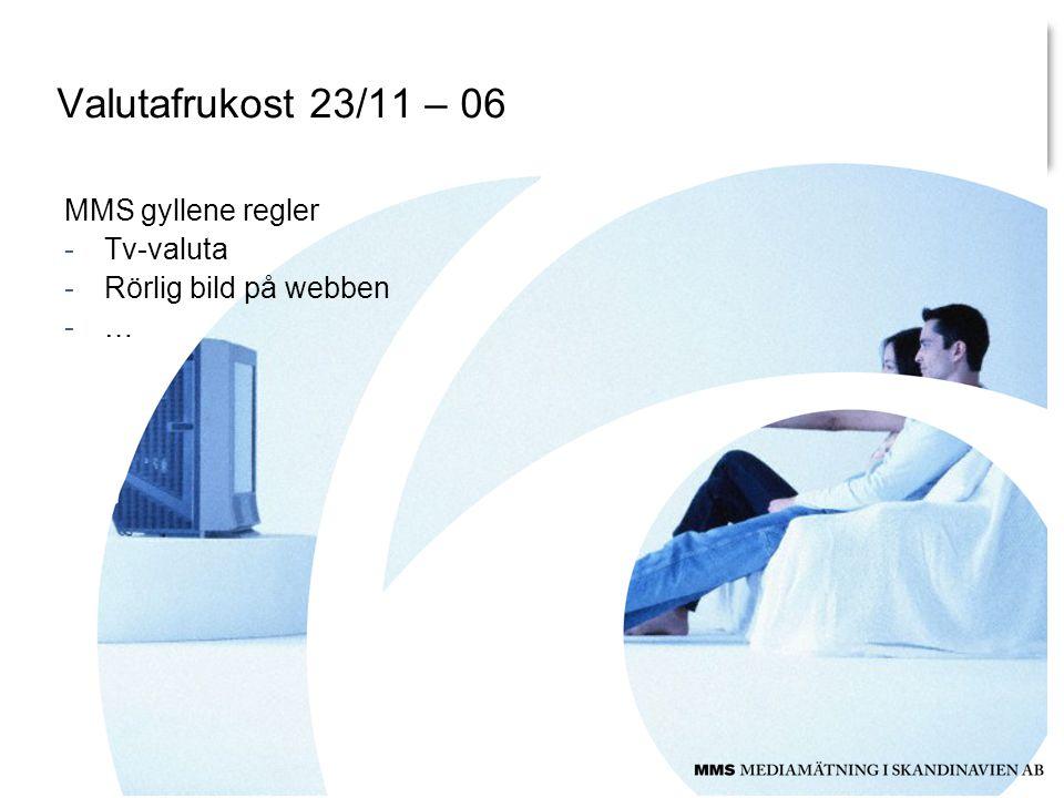 Valutafrukost 23/11 – 06 MMS gyllene regler -Tv-valuta -Rörlig bild på webben -…