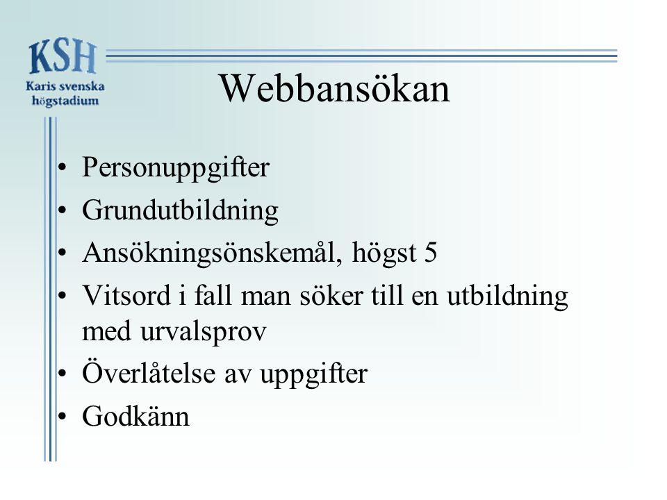 Öppet hus •Karis-Billnäs Gymnasium 7.2 kl.18-20. Info 5.3 o.