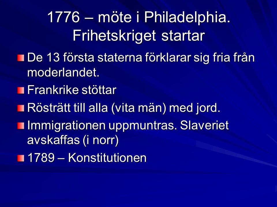 1776 – möte i Philadelphia.