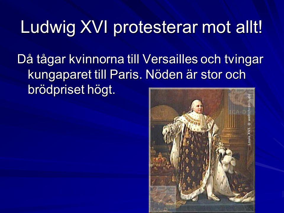 Ludwig XVI protesterar mot allt.
