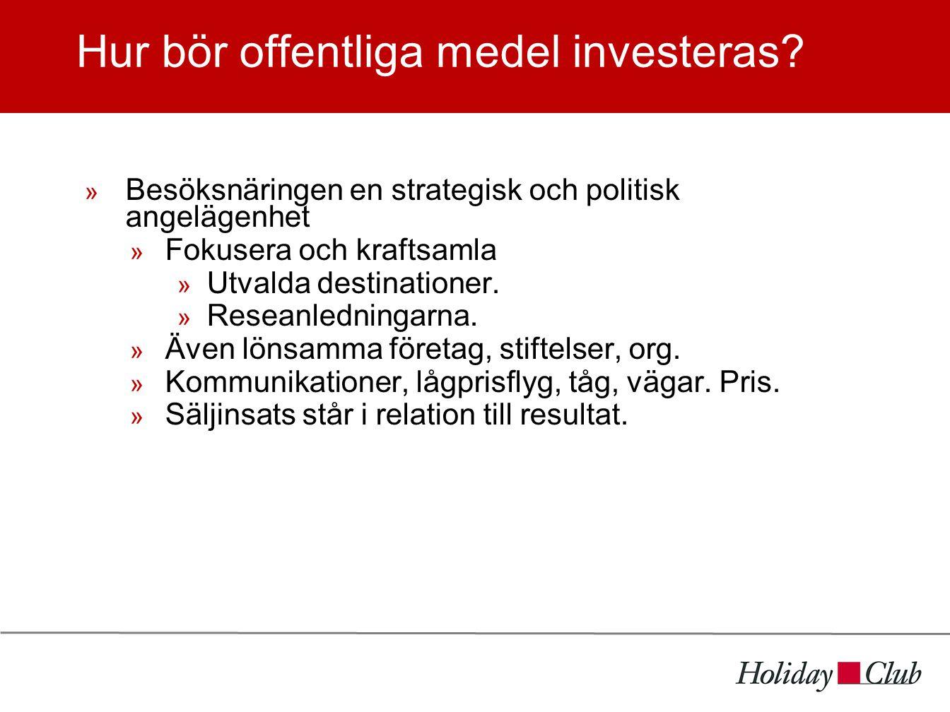Hur bör offentliga medel investeras.