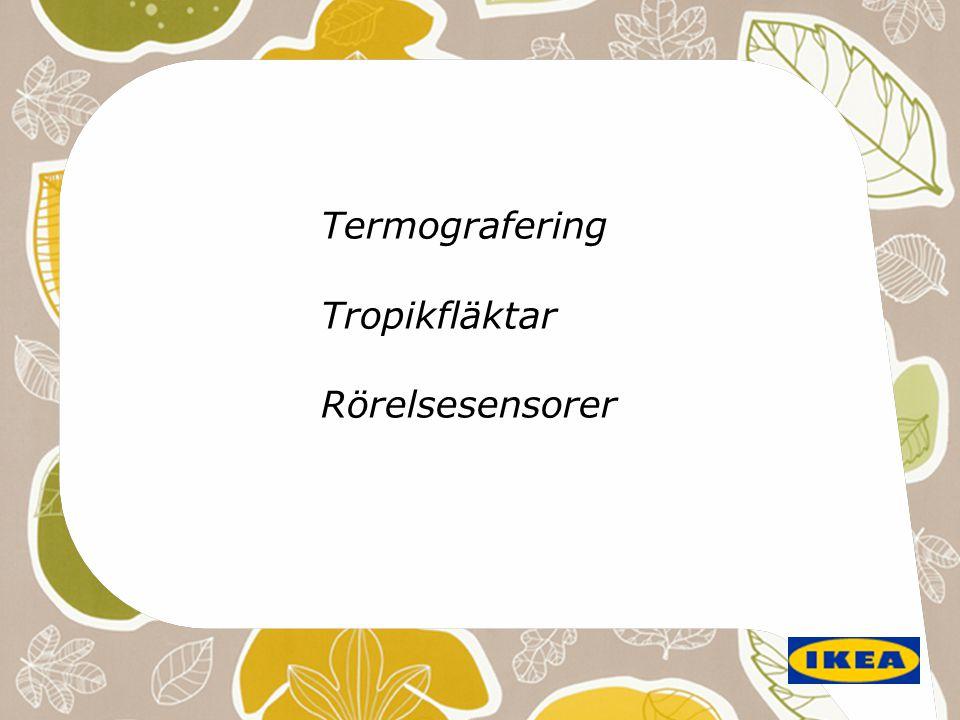 Termografering Tropikfläktar Rörelsesensorer