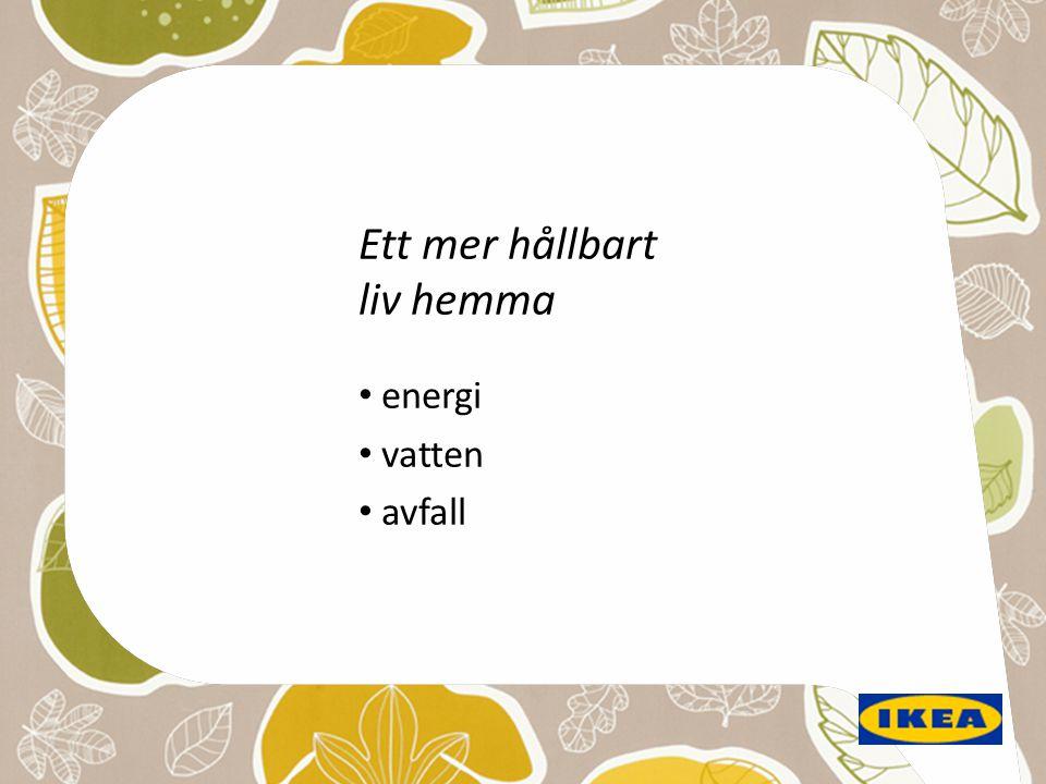 Ett mer hållbart liv hemma • energi • vatten • avfall