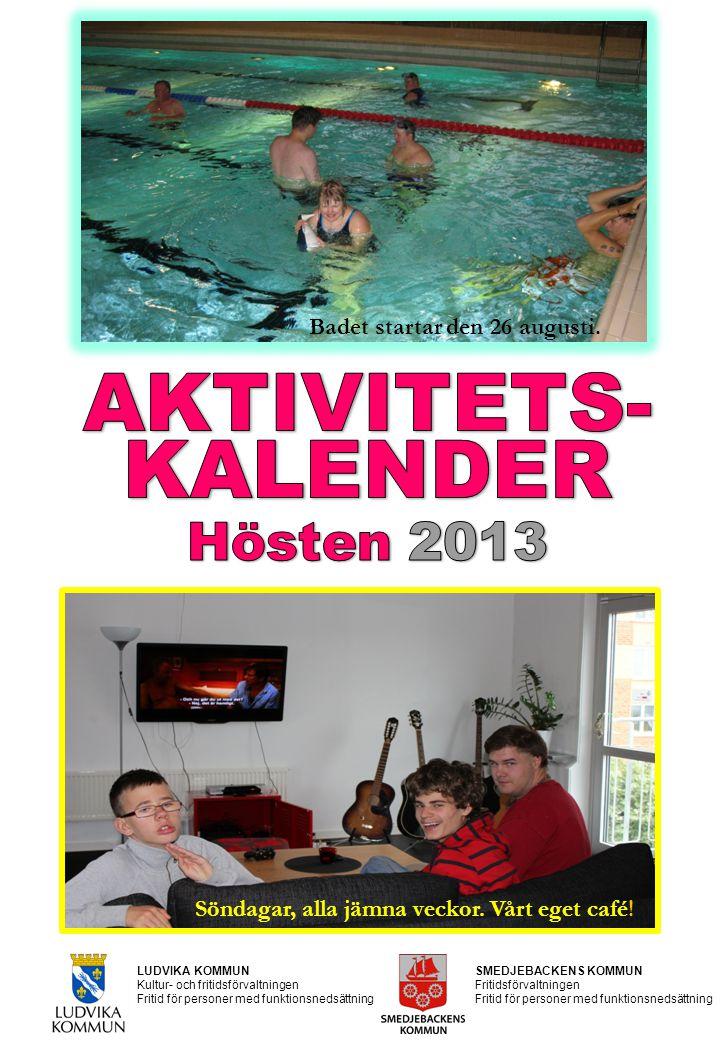 LUDVIKA KOMMUN Kultur- och fritidsförvaltningen Fritid för personer med funktionsnedsättning SMEDJEBACKENS KOMMUN Fritidsförvaltningen Fritid för pers