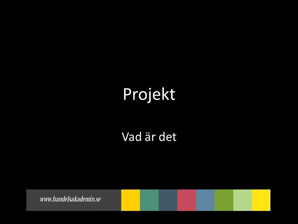 Projekt Vad är det