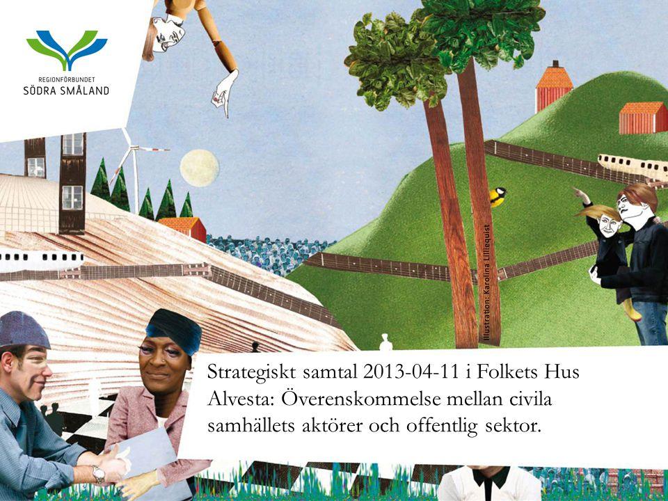 Strategiskt samtal 2013-04-11 i Folkets Hus Alvesta: Överenskommelse mellan civila samhällets aktörer och offentlig sektor.