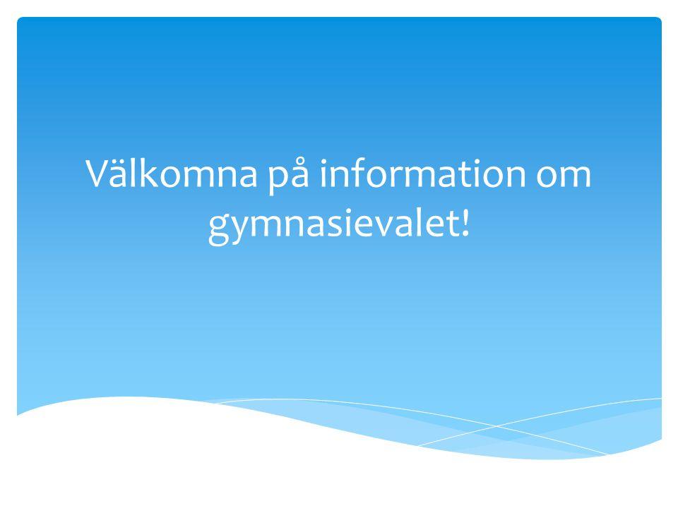  Varje elev ska erbjudas ett enskilt samtal med SYV under höstterminen.