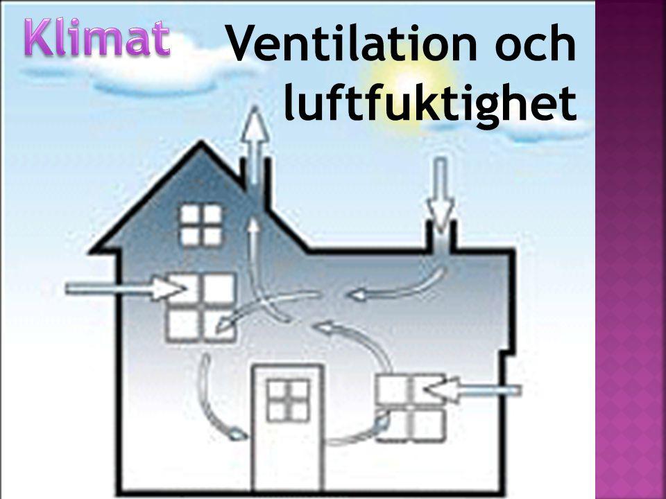 Dalig luft är ett stort problem på många arbetsplatser Särskilt på vintern när luftfuktigheten är låg Den relativa luftfuktigheten ska ligga mellan 30–70% 100% luftfuktighet är regn